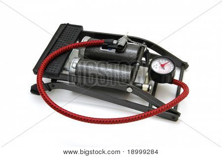 Bicycle foot pump/inflator