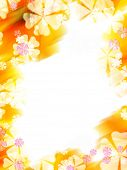 picture of yellow flower  - Abstract colorful flower border - JPG