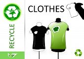 image of reprocess  - Please recycle clothes - JPG