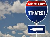 stock photo of marketing strategy  - Strategy road sign - JPG
