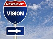 stock photo of road sign  - Vision road sign - JPG