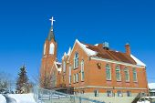stock photo of early 50s  - A Traditional catholic church from the early 50 - JPG