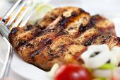 Marinated and grilled chicken breast