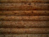 stock photo of log cabin  - Old log wall Background - JPG