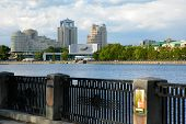 stock photo of ekaterinburg  - View on the Ekaterinburg city from embankment of Iset - JPG