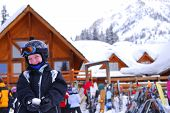 Child At Downhill Skiing Resort