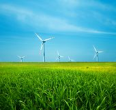foto of wind-power  - Wind Turbines - JPG