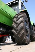 foto of heavy equipment  - industry machine tires view  - JPG