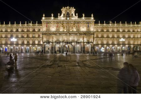 Plaza Mayor, main square in Salamanca, Spain.