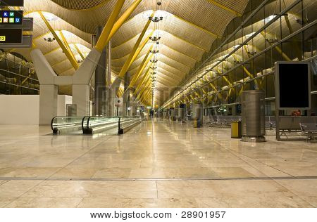 T4 terminal, in the Barajas airport, Madrid.