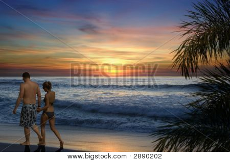 Romantic Beach Walk