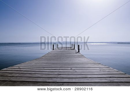 Footbridge in the middle of nowhere