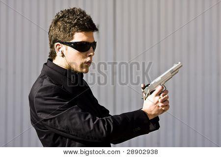 Alertness secret agent ready for action