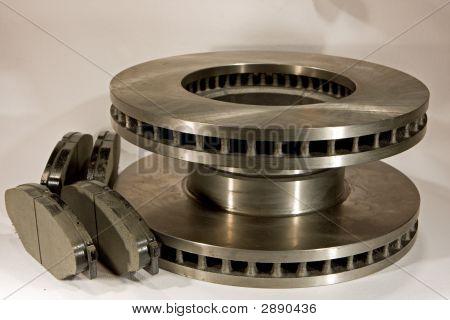 New Disc Brake Rotors And Set Of Brake Pads