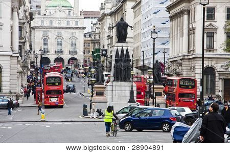 One of Londons main streets leading to Piccadilly Circus