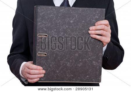 Datei und zwei Hände