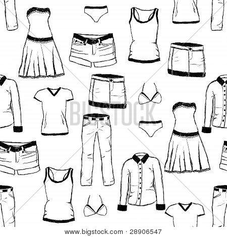 Patrón de ropa Doodle