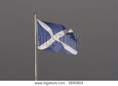 Scotland Flag Over Gray