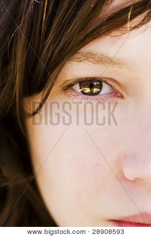 Woman portrait with  awesome eye.
