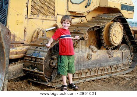 Little Boy And Bulldozer