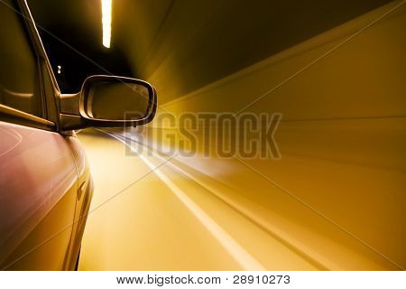 Driving at high speed inside tunnel