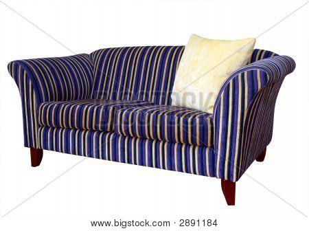 Striped Sofa With Cushion