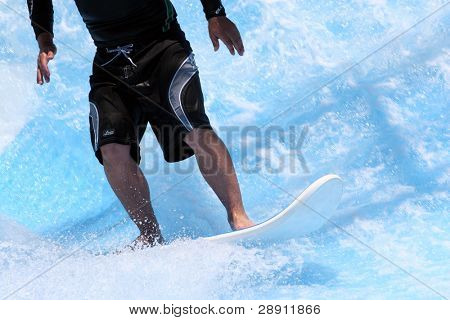 Surfing Closeup