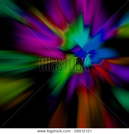 Colorful Abstraction - a purposefully softly focused abstract background. Image is square.