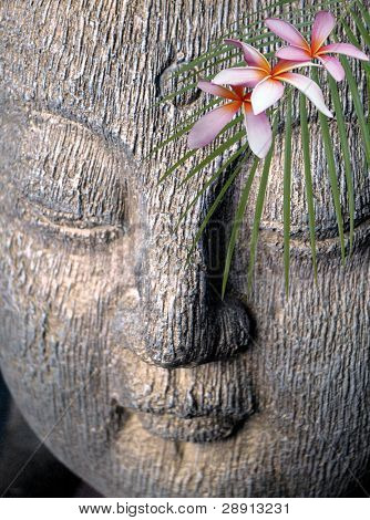 Peaceful Faith - Buddha and flowers