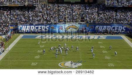 Chargers versus Raiders at Qualcomm stadium on October 14th, 2007.