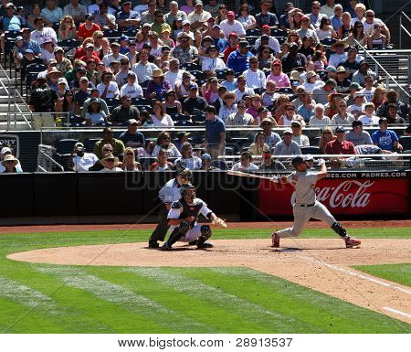St. Louis Cardinals Albert Pujols hits another home run. Image taken versus the San Diego Padres in 2007 at Petco Park.