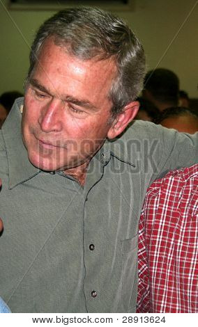 Closeup of President George W. Bush