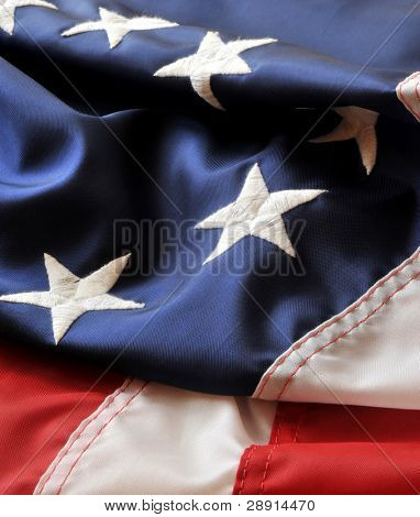 Colors Of America - patriotic version of stars and stripes with first flag in a vertical image.