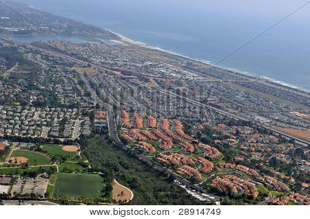 Aerial View of Carlsbad California (USA)