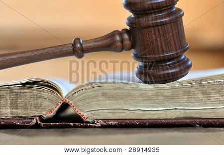 Gavel and book - portrayal of Judicial branch of government