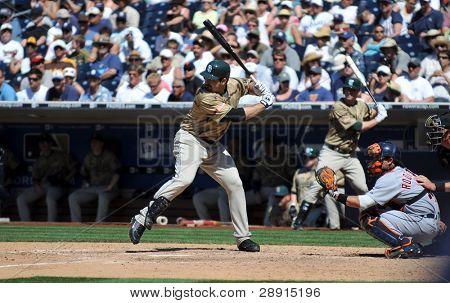 June 22nd, 2008 - Adrian Gonzalez, star first baseman of the San Diego Padres at Petco Park versus the Detroit Tigers.