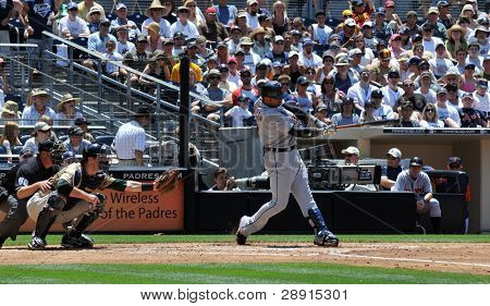 June 22nd, 2008 - Detroit Tiger's Player Carlos Guillen taken at Petco Park during a game with the San Diego Padres.