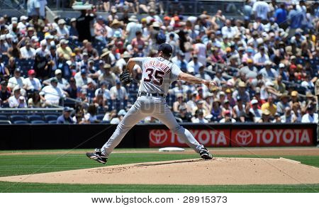 June 22nd, 2008 - Detroit Tigers Pitcher Justin Verlander during a game versus the San Diego Padres.
