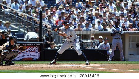 June 22nd, 2008 - Detroit Tigers Miguel Cabrera swings during a game versus the San Diego Padres at Petco Park.