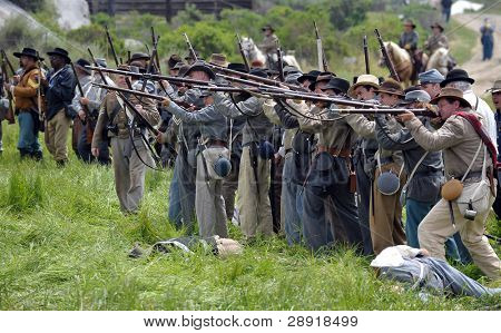 VISTA, CALIFORNIA - APRIL 17: American Civil War (1861-1865) is recreated by performers honoring the sacrifice of over 620,000 soldiers on April 17, 2010 in Vista, California.