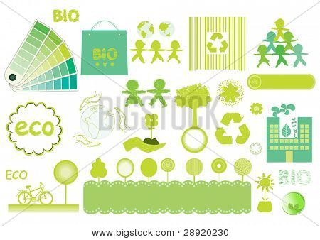 green eco and bio elements