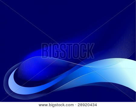 Comet in space (abstract background)