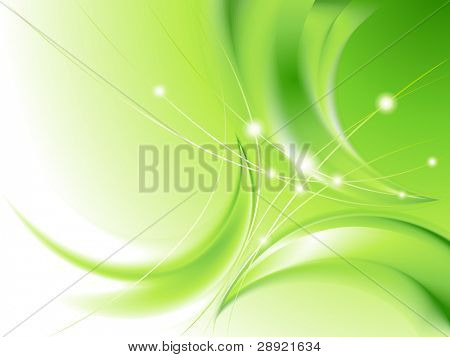 Abstract green background (no mesh)