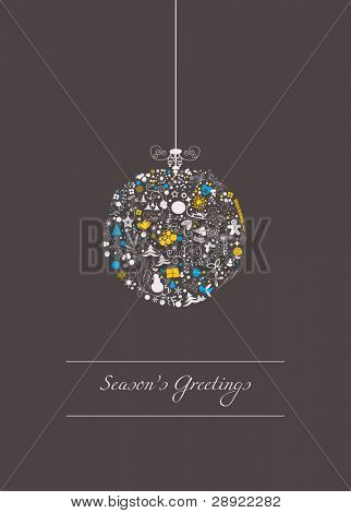 Stylized christmas ball