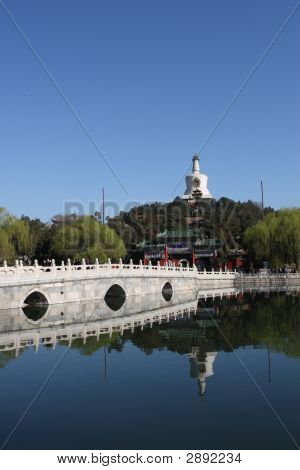 Stone Bridge And White Pagoda