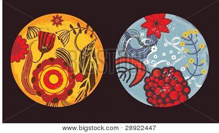 colorido y fantasía fondo floral