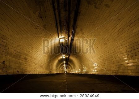 Creepy old tunnel below Thames river