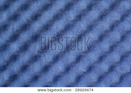 Sheet of blue acoustic foam for sound recording