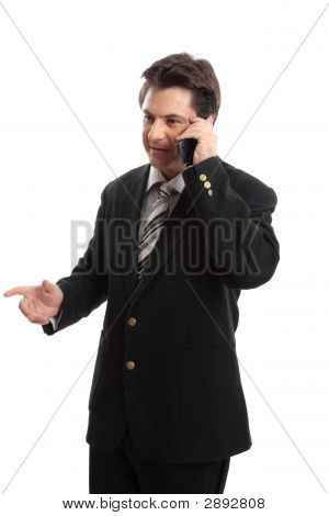 Business Executive On The Phone