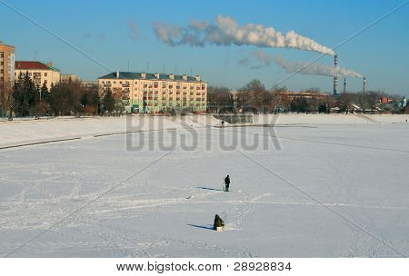 View at Sura river, old powerplant and Slava street